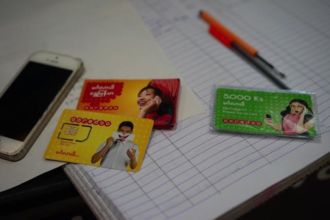 ミャンマーでSIMカードを購入。設定はお任せでOK!