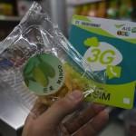 バンコク・ドンムアン空港にはSIMカードを購入するとお菓子を貰えるお店がある
