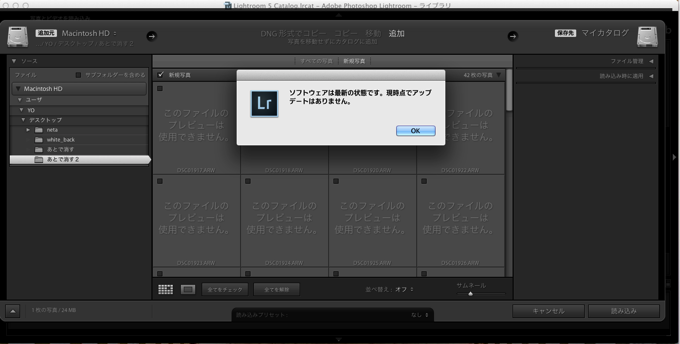 Lightroom Sony α7 Ⅱ  ILCE-7M2 RAW 画像 認識しない