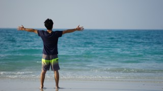 UAE・アブダビの観光地 サディヤット島のパブリックビーチは素敵な場所
