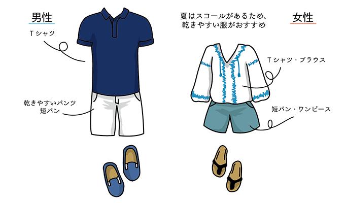 夏(4月、5月、6月、7月、8月、9月、10月)の香港旅行にふさわしい服装