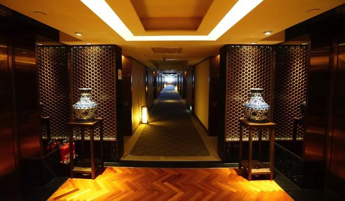 ザ・リージェントホテル台北(台北晶華酒店)の廊下