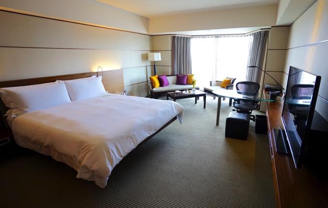 ザ・リージェントホテル台北(台北晶華酒店)のデラックスキングサイズベッド