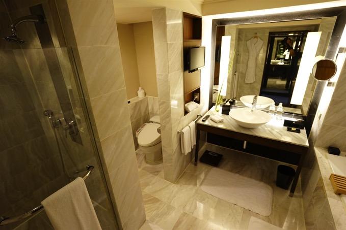 ザ・リージェントホテル台北(台北晶華酒店)のバスルーム