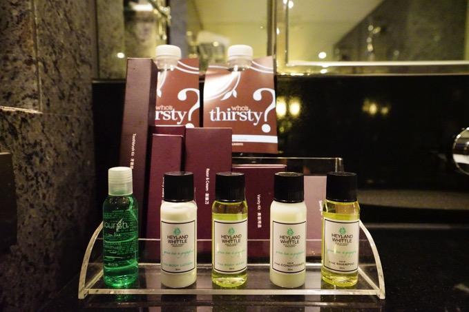 シェラトングランデ台北ホテルのアメニティ