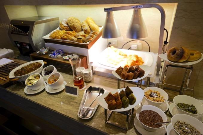 シェラトングランデ台北ホテルのクラブラウンジでの朝食