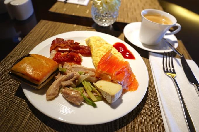シェラトングランデ台北ホテルのクラブラウンジでの美味しい朝食