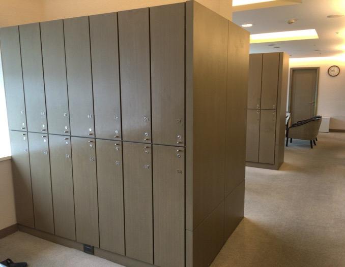 シェラトングランデ台北ホテルの大浴場の更衣室