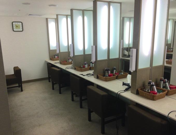「シェラトングランデ台北ホテル」の更衣室